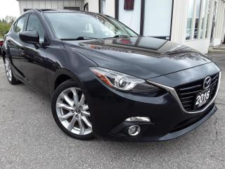 Used 2016 Mazda MAZDA3 SPORT GT HATCH - LEATHER! NAV! BACK-UP CAM! for sale in Kitchener, ON
