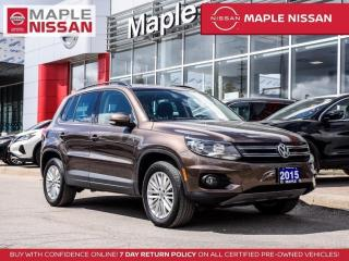 Used 2015 Volkswagen Tiguan Comfortline AWD Backup Cam Pano Moonroof Bluetooth for sale in Maple, ON