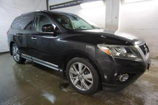Used 2013 Nissan Pathfinder PLATINUM 4x4 CERTIFIED 2YR WARRANTY 7PSSNGR DVD NAVI 360 CAMERA PANO ROOF HEAT/VENT LEATHER SEATS PLATINUM 4x4 CERTIFIED 2YR WARRANTY 7PSSNGR DVD NAVI 360 CAMERA PANO ROOF HEAT/VENT LEATHER SEATS for sale in Milton, ON