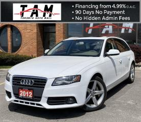 Used 2012 Audi A4 Avant 2.0T Premium Plus NAVI Blind Spot Assist PDC Sunroof Leather Clean Carfax for sale in North York, ON