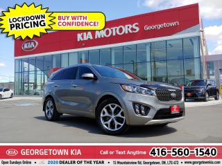 Used 2016 Kia Sorento Turbo SX | 1 OWNR | CLN CRFX | NAV | PANO ROOF | for sale in Georgetown, ON