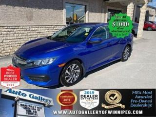 Used 2016 Honda Civic Sedan EX* Reverse Camera/Heated Seats/REMOTE STARTER for sale in Winnipeg, MB