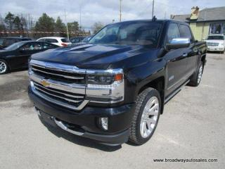 Used 2017 Chevrolet Silverado 1500 LIKE NEW HIGH-COUNTRY MODEL 5 PASSENGER 6.2L - V8.. 4X4.. CREW-CAB.. SHORTY.. NAVIGATION.. LEATHER.. HEATED/AC SEATS.. POWER PEDALS & MIRRORS.. for sale in Bradford, ON
