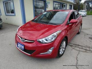 Used 2016 Hyundai Elantra POWER EQUIPPED SPORT EDITION 5 PASSENGER 1.8L - DOHC.. ACTIVE-ECO-PACKAGE.. HEATED SEATS.. BACK-UP CAMERA.. BLUETOOTH SYSTEM.. POWER SUNROOF.. for sale in Bradford, ON