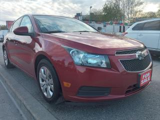 Used 2013 Chevrolet Cruze LT TURBO-EXTRA CLEAN-179K-4CYL-BLUETOOTH-AUX-USB for sale in Scarborough, ON
