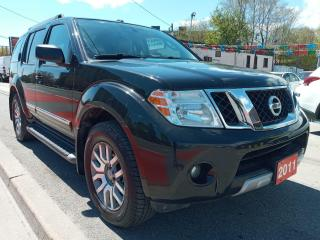 Used 2011 Nissan Pathfinder LE-148K-7 SEATS-4X4-LEATHER-SUNROOF-DVD-BK UP CAM for sale in Scarborough, ON