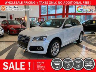 Used 2016 Audi Q5 2.0T Technik - Nav / Pano Sunroof / Leather / No Dealer Fees for sale in Richmond, BC