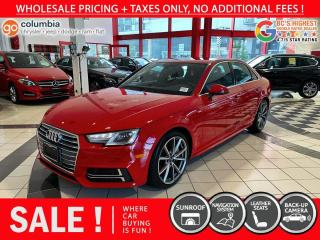 Used 2017 Audi A4 Premium Plus - One Owner / Nav / Sunroof / No Dealer Fees / Local for sale in Richmond, BC