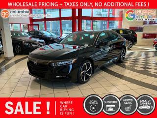 Used 2018 Honda Accord Sedan Sport - Sunroof / Leather / No Dealer Fees / One Owner for sale in Richmond, BC