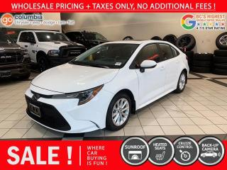 Used 2020 Toyota Corolla LE - Accident Free / Local / Sunroof / No Dealer fees for sale in Richmond, BC