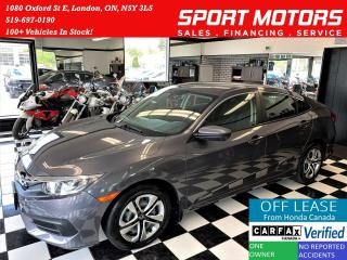 Used 2018 Honda Civic LX+ApplePlay+Camera+New Brakes+CLEAN CARFAX for sale in London, ON