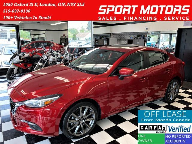 2018 Mazda MAZDA3 GT+GPS+Camera+Leather+Roof+Lane Keep+CLEAN CARFAX
