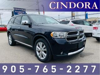 Used 2011 Dodge Durango AWD, Leather, NAV, 7 Pass. for sale in Caledonia, ON