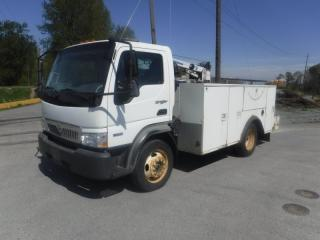 Used 2008 International CF600 City Star Diesel Service Truck with Crane for sale in Burnaby, BC