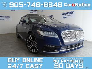 Used 2018 Lincoln Continental RESERVE |LUXURY PKG |AWD| ROOF|TECH PKG | 20