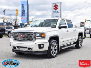 Used 2015 GMC Sierra 1500 Denali Crew Cab 4x4 ~Nav ~Cam ~Leather ~Roof ~22's for sale in Barrie, ON