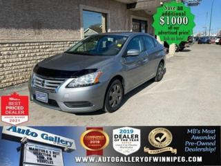 Used 2014 Nissan Sentra S* Automatic/Bluetooth/REMOTE STARTER for sale in Winnipeg, MB