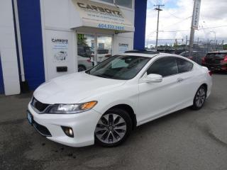Used 2015 Honda Accord EX-L Coupe Nav, Sunroof, Leather, Auto, No Claims! for sale in Langley, BC