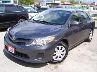 Used 2012 Toyota Corolla CE+,ONE OWNER,BLUETOOTH,HEATED SEAT,CERTIFIED,A/C for sale in Kitchener, ON
