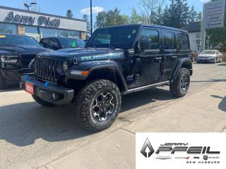 New 2021 Jeep Wrangler 4xe UNLIMITED RUBICON 4XE l LEATHER l NAV l DUAL TOP for sale in New Hamburg, ON