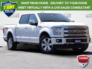 Used 2016 Ford F-150 Platinum 4WD 3.5L V6 | CLASS IV TRAILER HITCH RECEIVER | REAR VIEW CAMERA W/DYNAMIC HITCH ASSIST | NAVIGATION for sale in Waterloo, ON