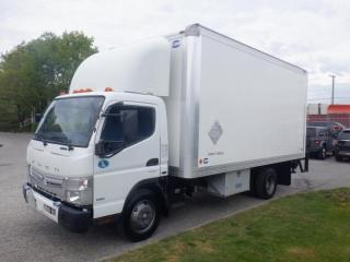Used 2013 Mitsubishi Fuso FE 180 Cube Van 3 Seater 16 foot Diesel With Power Tailgate for sale in Burnaby, BC