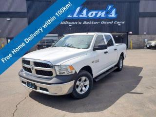 Used 2018 RAM 1500 ST, Crew Cab 4X4, 5.7L Hemi, Rear Camera, Class IV Hitch Receiver, Alloy Wheels and more! for sale in Guelph, ON