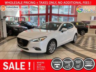 Used 2017 Mazda MAZDA3 GT - Nav / Sunroof / Local / No Dealer Fees for sale in Richmond, BC