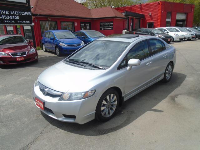 2009 Honda Civic EX-L/ LEATHER / ROOF / ALLOYS / HEATED SEATS / A/C