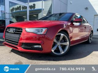 Used 2015 Audi S5 PROGRESSIV - MANUAL, LEATHER, HEATED SEATS. SPORTY AND LUXURIOUS! for sale in Edmonton, AB