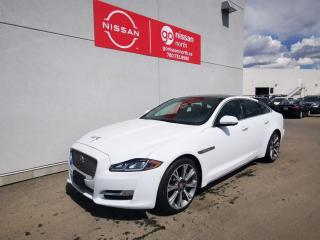 Used 2016 Jaguar XJ Portfolio / XJL / Used Jaguar Dealership / White on Black / Loaded / Leather for sale in Edmonton, AB
