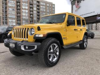 Used 2019 Jeep Wrangler Unlimited Sahara No Accidents, Stunning Yellow, Navi, Back up Cam for sale in North York, ON