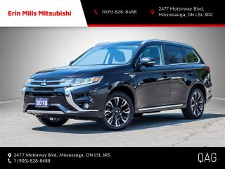 Used 2018 Mitsubishi Outlander Phev GT S-AWC NO ACCIDENTS 1OWNER LOW KMS CARPLAY CAM ROOF for sale in Mississauga, ON