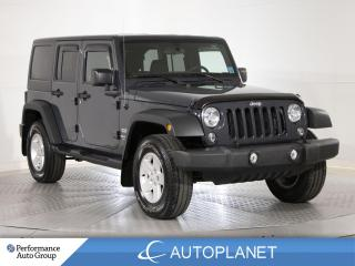 Used 2018 Jeep Wrangler JK Unlimited Sport 4x4, Tow Hitch, Clean Carfax, Ont Veh! for sale in Brampton, ON