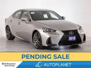 Used 2019 Lexus IS 300 AWD, F-Sport 2, Navi, Back Up Cam, Red Interior! for sale in Brampton, ON