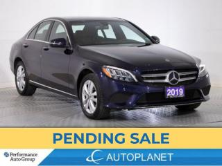 Used 2019 Mercedes-Benz C-Class C300 4MATIC, Turbo, Premium Pkg, Wireless Charger! for sale in Brampton, ON