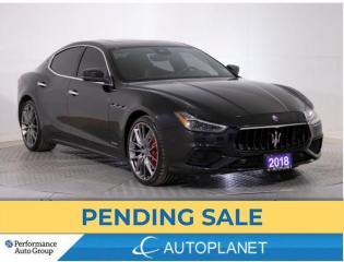 Used 2018 Maserati Ghibli SQ4 GranSport, Navi, Sunroof, Android Auto, 424 HP for sale in Brampton, ON