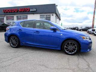 Used 2012 Lexus CT 200h F-SPORT HYBRID CAMERA BLUETOOTH CERTIFIED for sale in Milton, ON