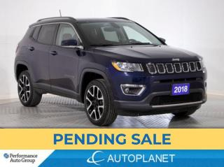 Used 2018 Jeep Compass Limited 4x4, Navi, Dual Pano Roof, Apple CarPlay! for sale in Brampton, ON