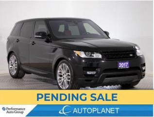 Used 2017 Land Rover Range Rover Sport AWD, Supercharged, Navi, 360 Cam, Red Interior! for sale in Brampton, ON