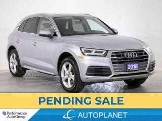 Used 2018 Audi Q5 Quattro, Progressiv, Navi, Wireless Charging! for sale in Brampton, ON