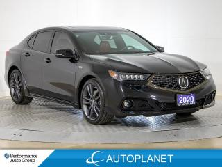 Used 2020 Acura TLX Tech, A-Spec, Navi, Android Auto, Red Interior for sale in Brampton, ON