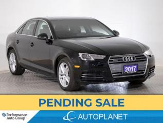 Used 2017 Audi A4 Quattro, Komfort, Sunroof, Memory Seat, Bluetooth! for sale in Brampton, ON