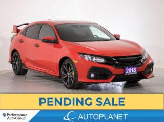 Used 2018 Honda Civic Hatchback Sport, Sunroof, Honda Sensing, Back Up Cam! for sale in Brampton, ON