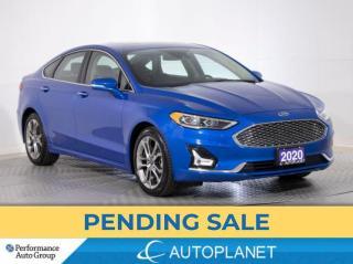 Used 2020 Ford Fusion Hybrid Titanium, Navi, Sunroof, Heated/Cooled Seats! for sale in Brampton, ON