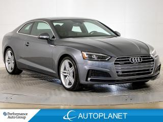 Used 2018 Audi A5 Coupe Quattro, Technik, S Line, Navi, New Rear Brakes! for sale in Brampton, ON