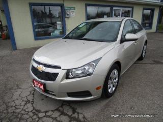 Used 2014 Chevrolet Cruze GREAT KM'S 1-LT EDITION 5 PASSENGER 1.4L - TURBO.. AUX/USB INPUT.. BLUETOOTH SYSTEM.. KEYLESS ENTRY.. for sale in Bradford, ON