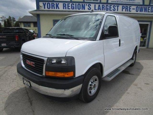 2019 GMC Savana 3/4 TON CARGO MOVING 2 PASSENGER 6.0L - VORTEC.. SHORTY.. BACK-UP CAMERA.. TOW SUPPORT.. REAR & SIDE BARN-DOORS.. AIR CONDITIONING..