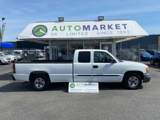 Used 2004 GMC Sierra 1500 Work Truck Ext. Cab Long Bed 2WD INSPECTED! FREE BCAA & WRNTY for sale in Langley, BC