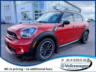 Used 2015 MINI Cooper Countryman S AWD - ULTRA LOW KMS for sale in PORT HOPE, ON
